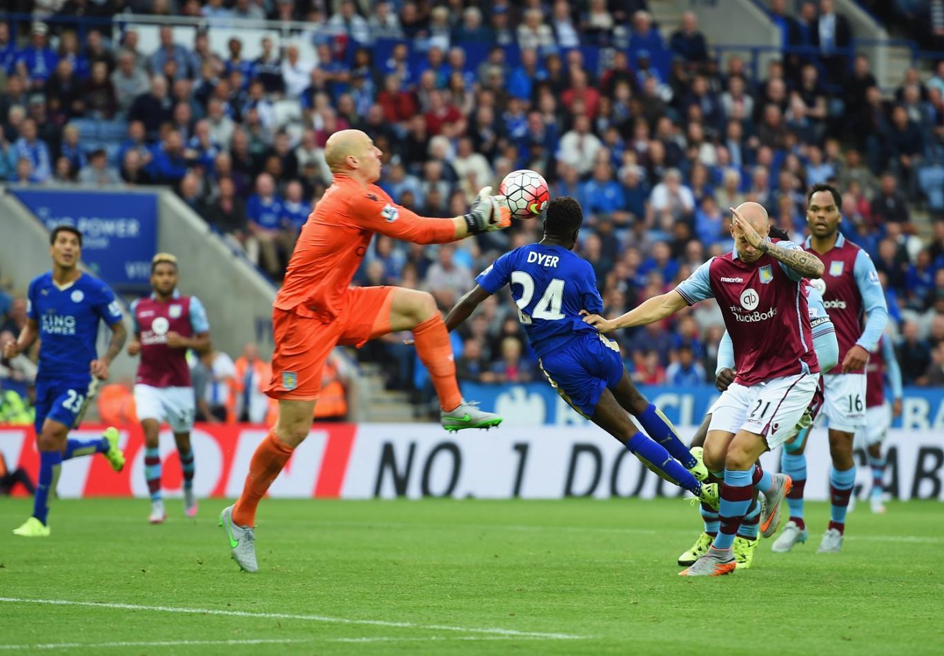 Leicester pokonuje Aston Villę 3:2