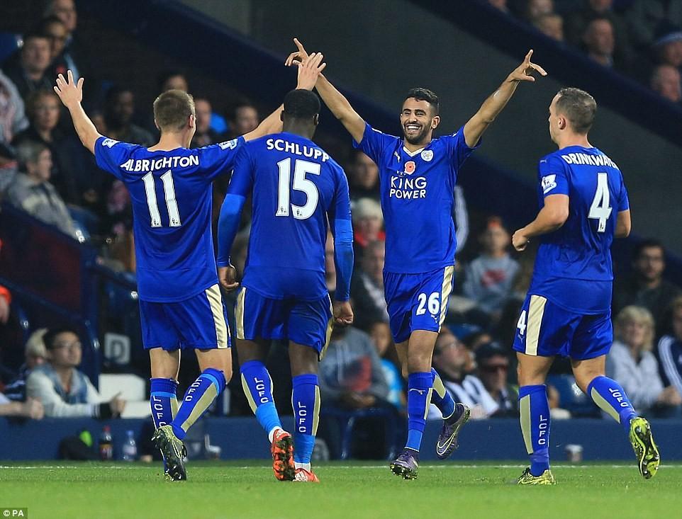 Leicester pokonuje West Brom Albion 3:2