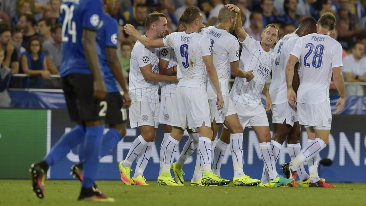 Leicester pewnie pokonuje Club Brugge 3:0